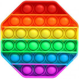 Мягкая игрушка Пупырышки Pop it Поп ит антистресс бесконечная пупырка восьмиугольник