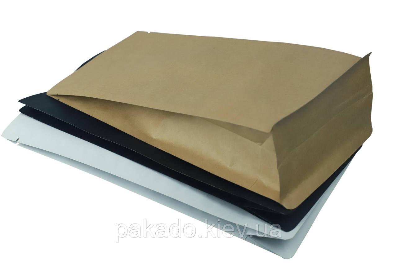 Пакет з плоским дном 145х340х90 (1кг) Крафт без замка