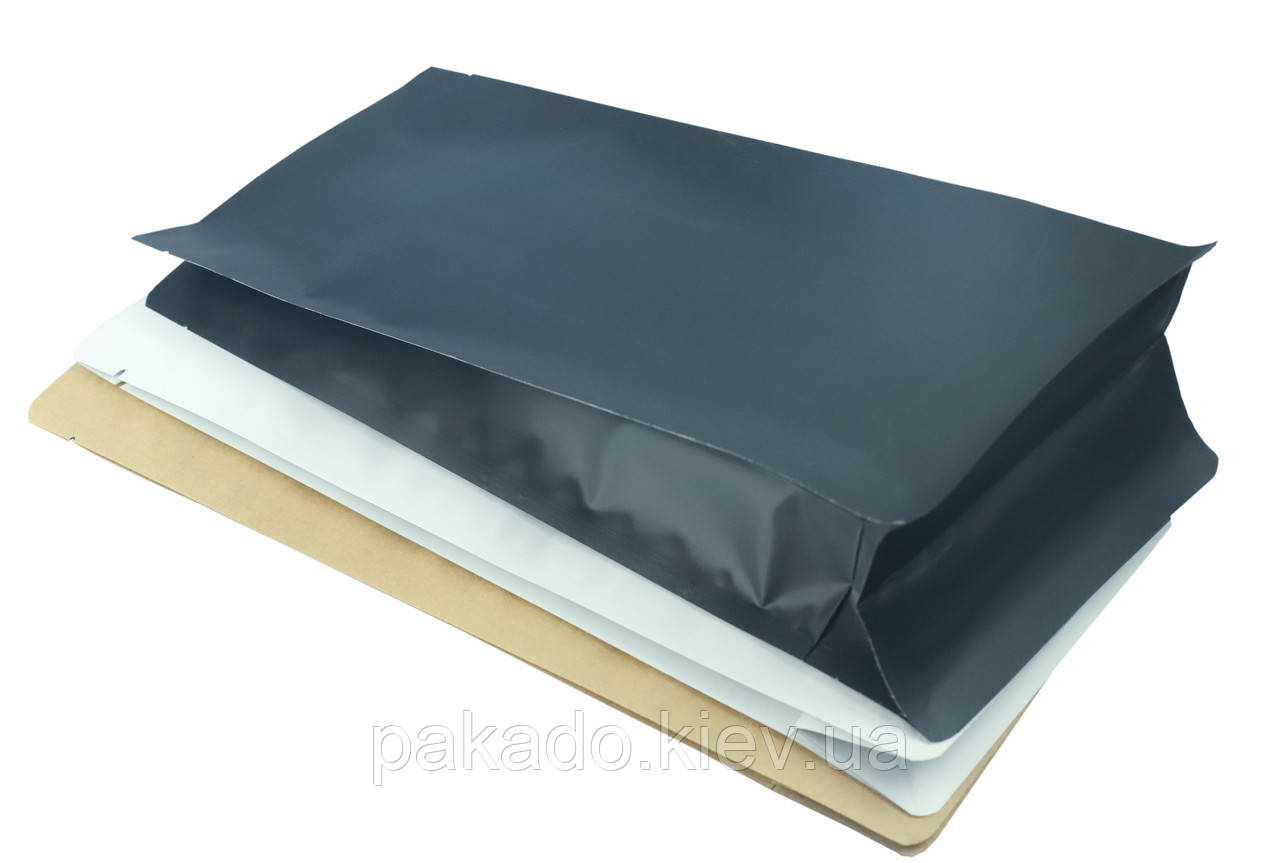 Пакет с плоским дном 145х340х90 (1кг) ЧЕРНЫЙ без замка