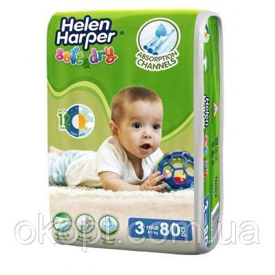 Подгузник Helen Harper Soft&Dry Midi 4-9 кг 80 шт (5411416060178)
