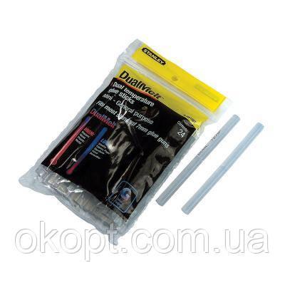 Клейові стрижні Stanley DualTemp d=7мм, L=100 мм, 24 шт (1-GS10DT)