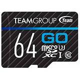 Карта памяти Team 64GB microSD Class 10 UHS-I/U3 Go (TGUSDX64GU303), фото 2