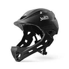Шолом захисний з підборіддям Nuckily PB14 Black р. 52-55 шолом для велосипедистів