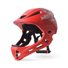 Шолом захисний з підборіддям Nuckily PB14 Red р. 52-55 шолом для велосипедистів