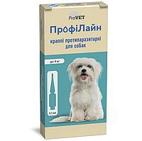 ProVet ПрофиЛайн капли от блох и клещей для собак до 4кг (1 пипетка)