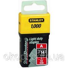 Скоби Stanley Light Duty тип а, 14мм, 1000шт (1-TRA209T)