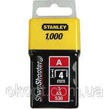 Скоби Stanley Light Duty тип а, 4мм, 1000шт (1-TRA202T)