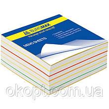 Бумага для заметок Buromax Rainbow 80х80х30мм, glued (BM.2232)