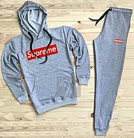 Спортивный мужской костюм Supreme (Супрем), серый, код OW-2059