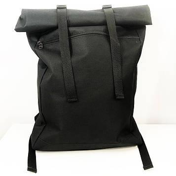 Рюкзак рол-топ з тканини. Колір: чорний (SV)