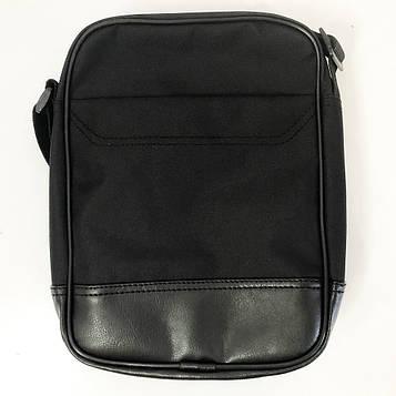 Сумка-месенджер з еко-шкіри тканини. Модель №2. Колір: чорний (SV)