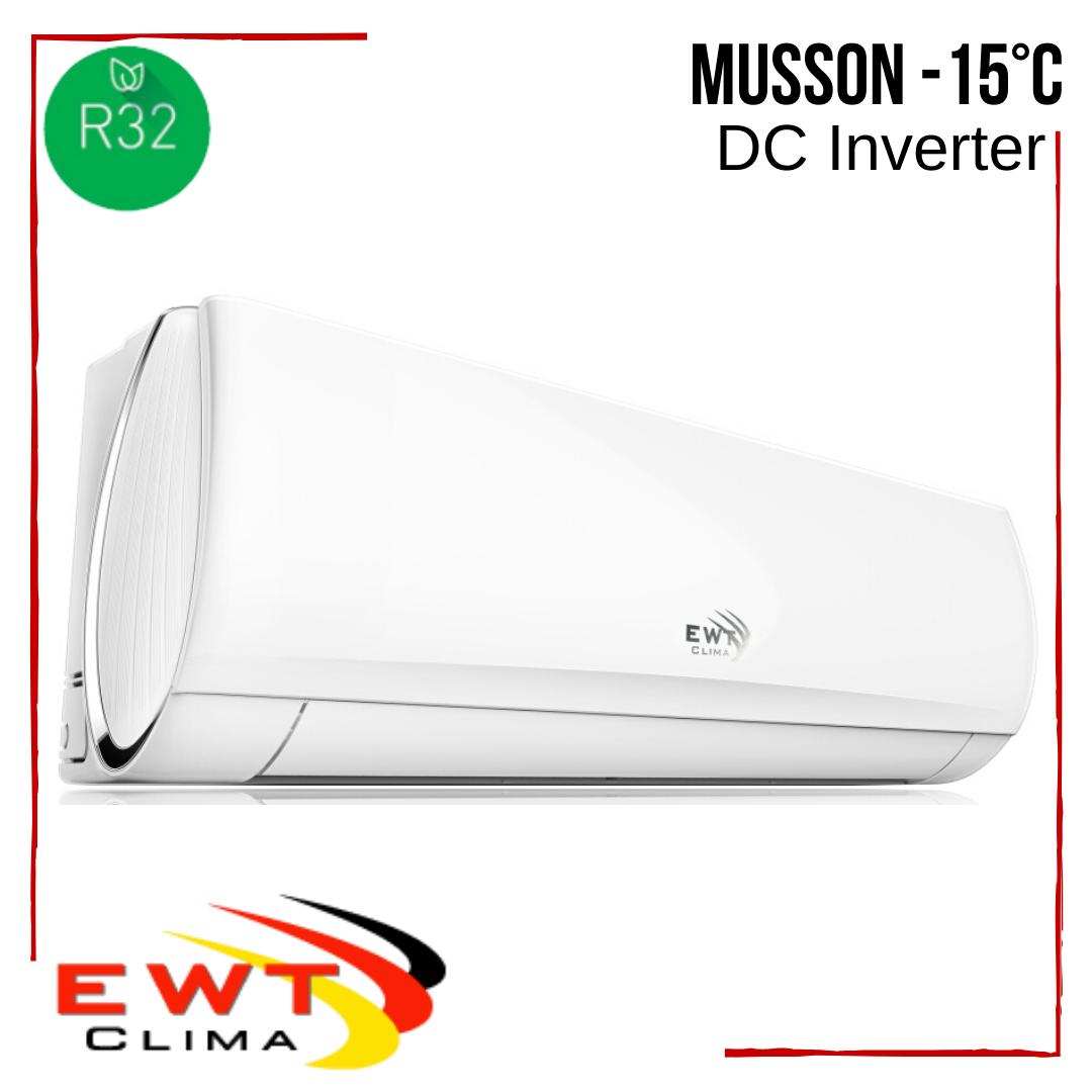 Кондиціонер EWT Clima з безкоштовною доставкою S-090GDI-HRFN1 Musson DC Inverter -15°С інверторний до 25 м2