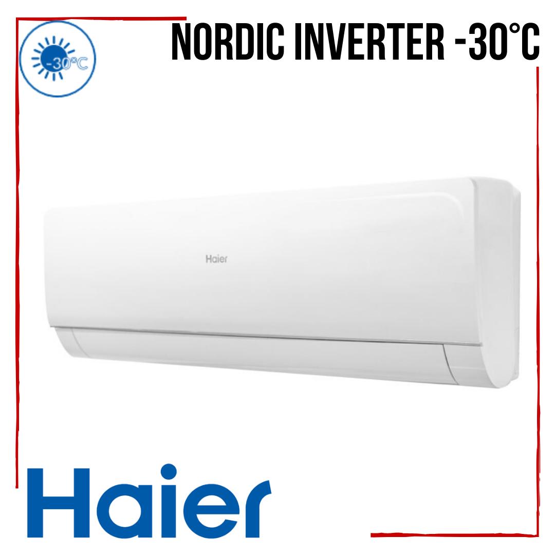 Кондиционер Haier Nordic с бесплатной доставкой AS35S2SN1FA-NR /1U35S2SQ1FA-NR Inverter -30°С до 35 м2