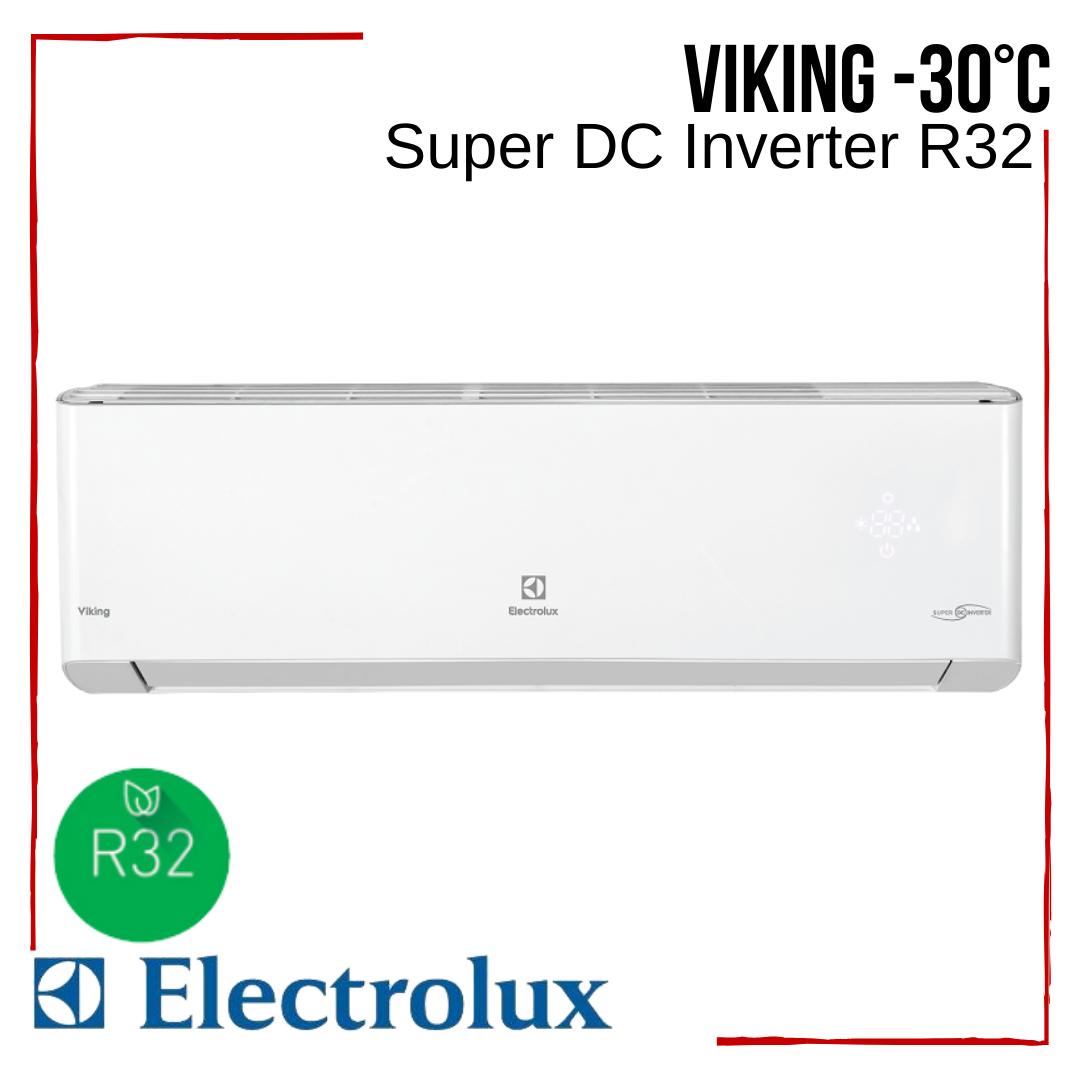 Кондиціонер Electrolux з безкоштовною доставкою EACS/I-09HVI/N8_19Y Viking Super DC Іnverter R32 тепловий насос