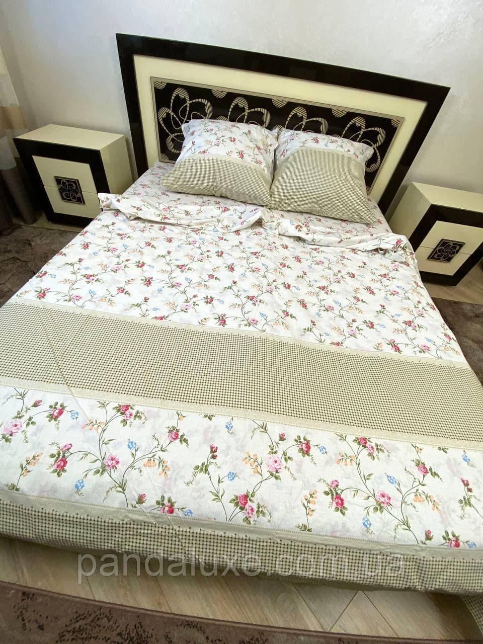 Постільна білизна бязь голд, гарний двоспальний комплект з квітами