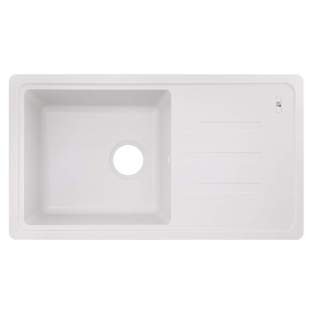 Кухонна мийка Lidz 780x435/200 WHI-01 (LIDZWHI01780435200)