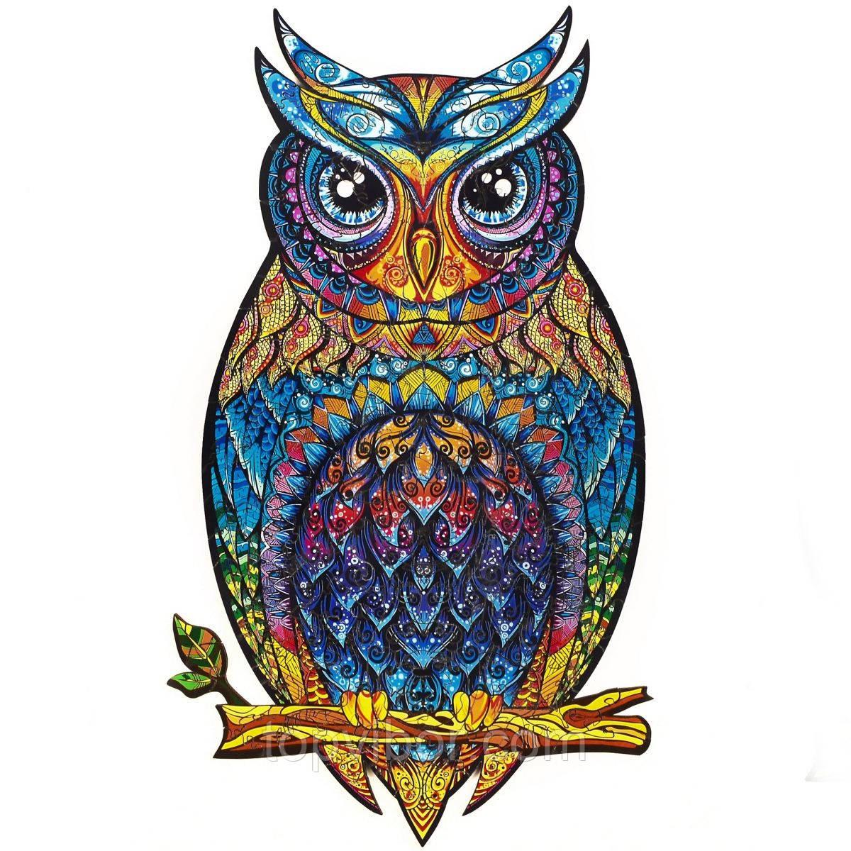 """Пазл Сова из дерева """"Wooden jigsaw puzzle - Owl"""" А5, деревянные пазлы для детей и взрослых (VT)"""