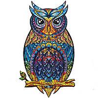 """Пазл Сова из дерева """"Wooden jigsaw puzzle - Owl"""" А5, деревянные пазлы для детей и взрослых (VT), фото 1"""