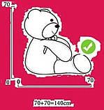 Плюшевый мишка Сеня с шарфом 180 см цвет персиковый   Плюшевый медведь   Мягкая игрушка от производителя, фото 8