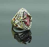 Яркое кольцо перстень в стразах. Бижутерия оптом в Днепропетровске. 106