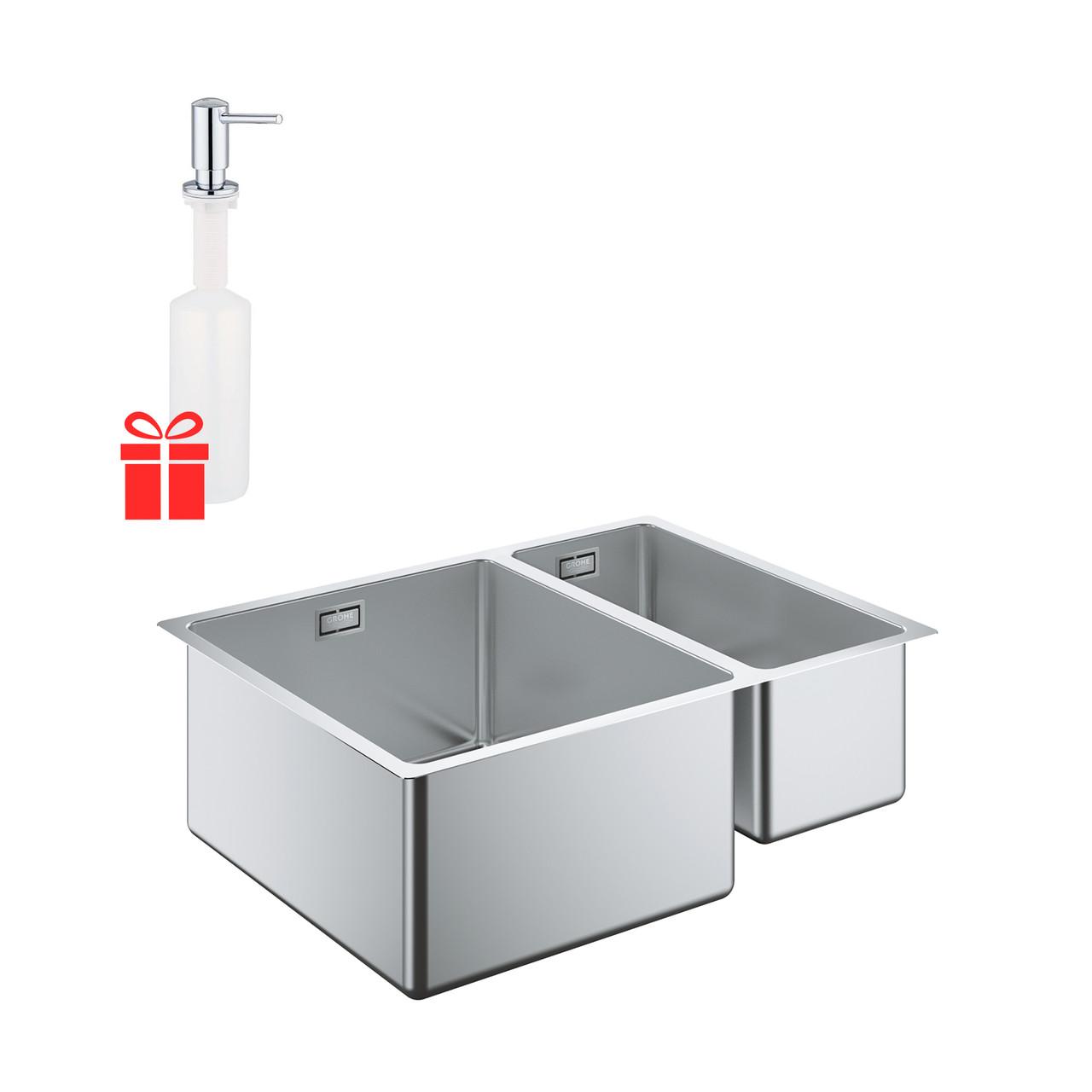 Набор Grohe мойка кухонная K700U 31577SD0 + дозатор для моющего средства Contemporary 40536000