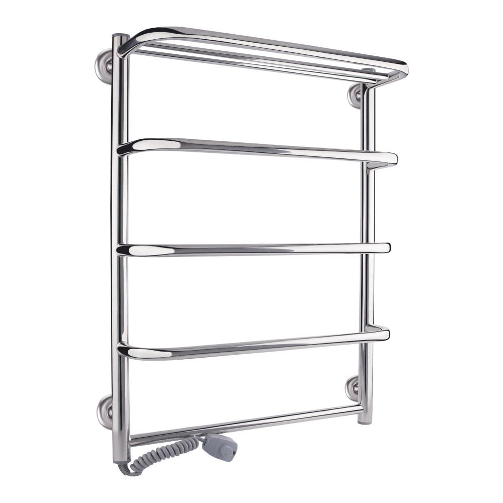 Полотенцесушитель електричний Qtap Standard shelf (CRM) P5 500х700 LE з полицею