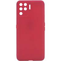 Силіконовий чохол Candy Full Camera для Oppo A94 Червоний / Camellia