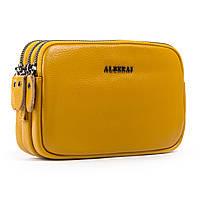 Сумка жіноча клатч шкіра 60061 yellow.Купити жіночі сумки жіночі оптом і в роздріб., фото 1