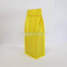 Пакет с плоским дном 1кг желтый 145х90х340 с боковой застежкой