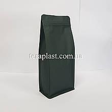 Пакет с плоским дном 1кг оливковый 145х90х340 с боковой застежкой