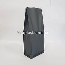 Пакет с плоским дном 1кг серый 145х90х340 с боковой застежкой