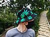 Панама HUF чёрная (панамка хуф с зелёными листьями марихуаны мужская женская), фото 5