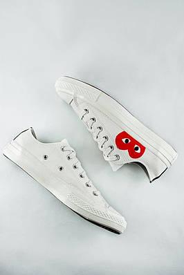 Кеды мужские Converse Comme Des Garcons x PLAY White (низкие)