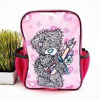 Рюкзак для дівчинки поліестер рожевий Арт.44-13 (Україна)
