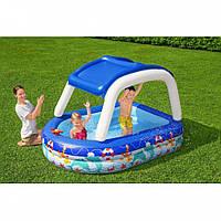 Надувной  бассейн  с козырьком от солнца 213-155-132см