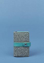 Кард-кейс BlankNote 6.1 Серый с бирюзовым BN-KK-6.1-felt -tiffany, КОД: 723749