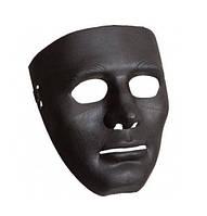 Маска обличчя Людини (Чорна), маска міма, безликий