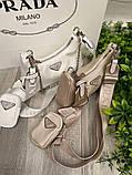 Жіноча сумка Prada Nylon Shoulder Bag White, фото 3