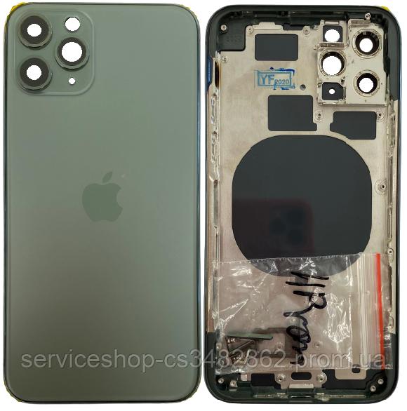 Корпус iPhone 11 Pro зеленый Matte Midnight Green оригинал
