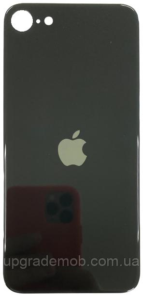 Задня кришка iPhone SE 2020 чорна оригінал з великим отвором під камеру