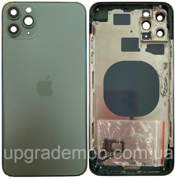 Корпус iPhone 11 Pro Max зеленый Matte Midnight Green оригинал