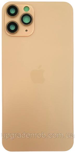 Задняя крышка iPhone 11 Pro золотистая оригинал в комплекте стекло камеры