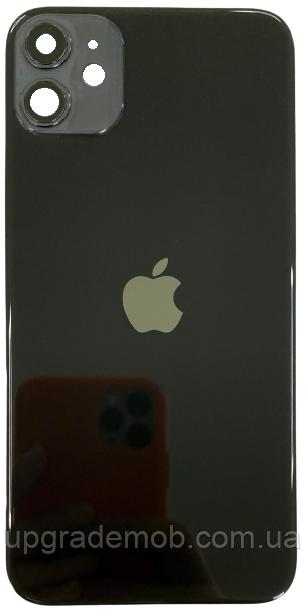 Задняя крышка iPhone 11 черная оригинал в комплекте стекло камеры