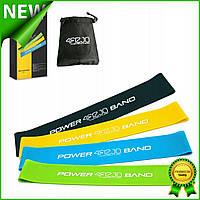 Набор фитнес резинок 4FIZJO Mini Power Band для тренировок 4 шт., эспандер ленточный петля эластичный 4FJ1042