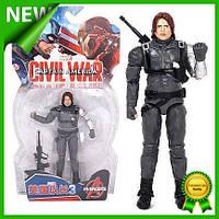 Игровая фигурка супергерой Marvel Зимний Солдат Мстители Winter Soldier Avengers игрушка для детей Gold