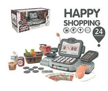 Детский многофункциональный кассовый аппарат с звуковыми эффектами и аксессуарами Игрушечный магазин-касса