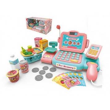 Детский кассовый аппарат с звуковыми эффектами для игр Игрушечный кассовый апарат с сканером и весами