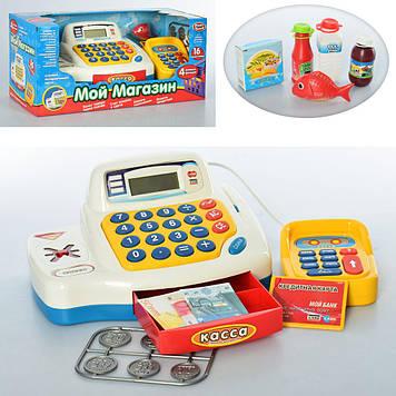 Детский игровой музыкальный кассовый апарат Магазин кассовый аппарат на батарейках Игрушечный кассовый апарат