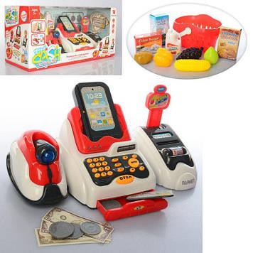 Игрушечный кассовый аппарат со световыми и звуковыми эффектами Кассовый апарат с корзинкой для продуктов