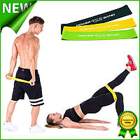 Набор фитнес резинок 4FIZJO Mini Power Band для тренировок 3 шт., эспандер ленточный петля эластичный 4FJ0008